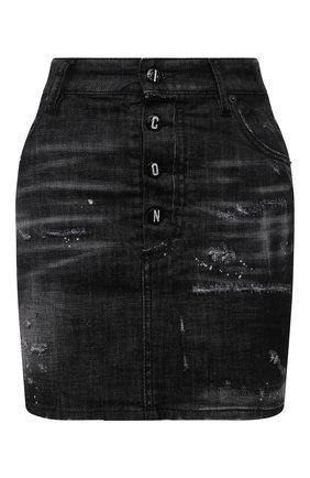 Женская джинсовая юбка DSQUARED2 черного цвета, арт. S80MA0010/S30357 | Фото 1