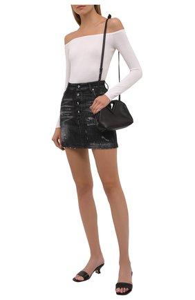 Женская джинсовая юбка DSQUARED2 черного цвета, арт. S80MA0010/S30357 | Фото 2