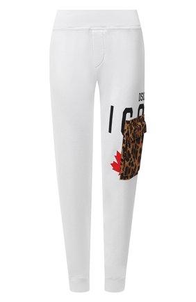 Женские хлопковые джоггеры DSQUARED2 белого цвета, арт. S80KA0016/S25042 | Фото 1