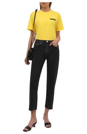 Женская хлопковая футболка DSQUARED2 желтого цвета, арт. S75GD0229/S22427 | Фото 2