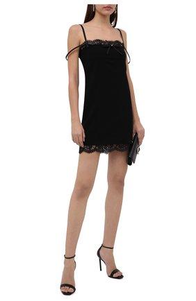 Женское платье из вискозы DSQUARED2 черного цвета, арт. S75CV0451/S48427 | Фото 2