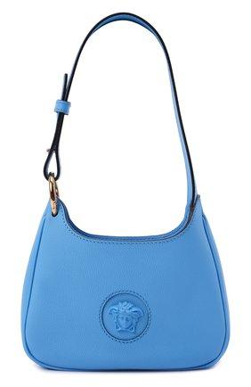 Женская сумка la medusa small VERSACE голубого цвета, арт. 1000802/DVIT3T | Фото 1