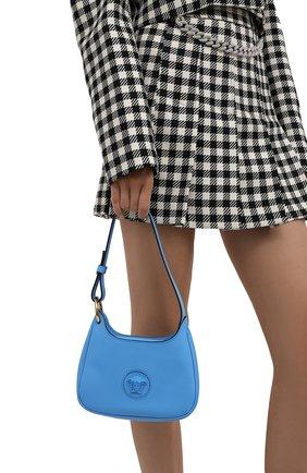 Женская сумка la medusa small VERSACE голубого цвета, арт. 1000802/DVIT3T | Фото 2
