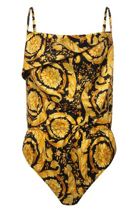 Женское шелковое боди VERSACE черного цвета, арт. 1000616/A232999 | Фото 1