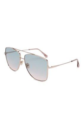 Женские солнцезащитные очки TOM FORD серебряного цвета, арт. TF838 | Фото 1