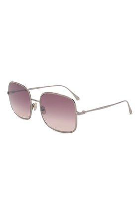 Женские солнцезащитные очки TOM FORD серебряного цвета, арт. TF865 | Фото 1 (Материал: Металл; Тип очков: С/з)