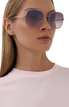 Женские солнцезащитные очки TOM FORD серебряного цвета, арт. TF865 | Фото 2 (Материал: Металл; Тип очков: С/з)