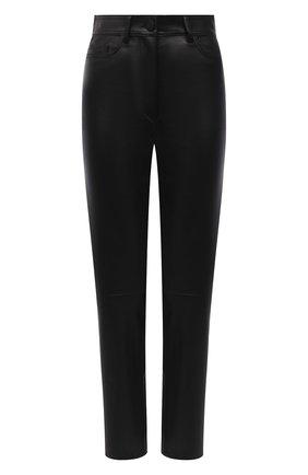 Женские кожаные брюки JOSEPH черного цвета, арт. JF005606 | Фото 1