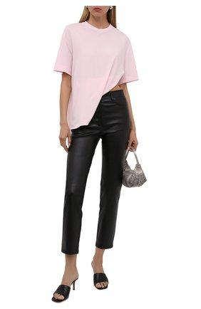 Женские кожаные брюки JOSEPH черного цвета, арт. JF005606   Фото 2