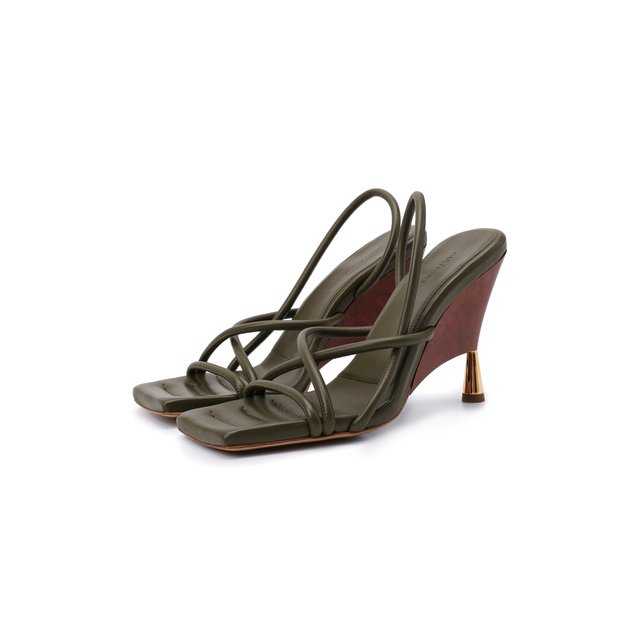 Кожаные босоножки Gia Couture