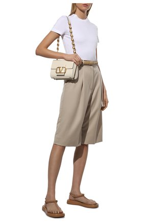 Женские кожаные сандалии GIA COUTURE коричневого цвета, арт. R0SIE-3 A 103 | Фото 2