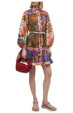 Женские кожаные сандалии GIA COUTURE кремвого цвета, арт. R0SIE-3 A 208 | Фото 2