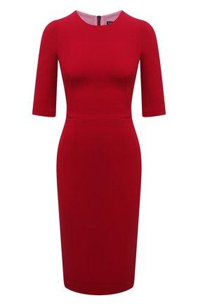 Женское шерстяное платье DOLCE & GABBANA красного цвета, арт. F66B6T/GDZBR | Фото 1