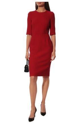 Женское шерстяное платье DOLCE & GABBANA красного цвета, арт. F66B6T/GDZBR | Фото 2
