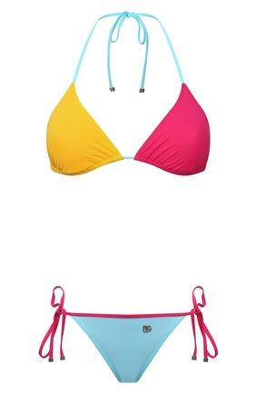 Женский раздельный купальник DOLCE & GABBANA разноцветного цвета, арт. 08A93J/0NI81 | Фото 1