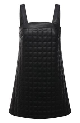 Женское платье из экокожи GIUSEPPE DI MORABITO черного цвета, арт. PF21096DR-138TR | Фото 1
