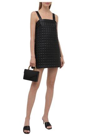 Женское платье из экокожи GIUSEPPE DI MORABITO черного цвета, арт. PF21096DR-138TR | Фото 2