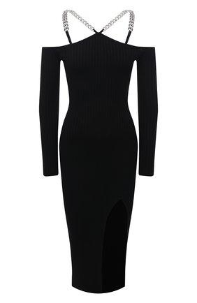Женское платье из шерсти и шелка GIUSEPPE DI MORABITO черного цвета, арт. PF21083KN-146 | Фото 1