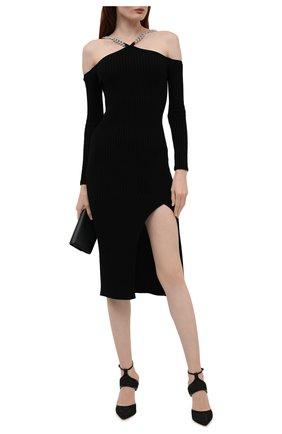 Женское платье из шерсти и шелка GIUSEPPE DI MORABITO черного цвета, арт. PF21083KN-146 | Фото 2