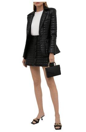 Женская юбка из экокожи GIUSEPPE DI MORABITO черного цвета, арт. PF21050SK-138TR | Фото 2