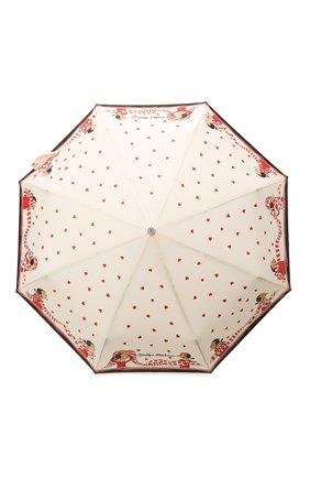 Женский складной зонт MOSCHINO кремвого цвета, арт. 7961-0PENCL0SE | Фото 1