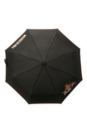 Женский складной зонт MOSCHINO черного цвета, арт. 8031-0PENCL0SE | Фото 1