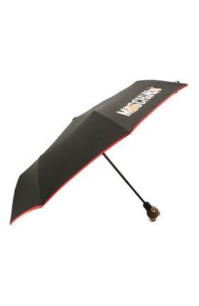 Женский складной зонт MOSCHINO черного цвета, арт. 8031-0PENCL0SE | Фото 2