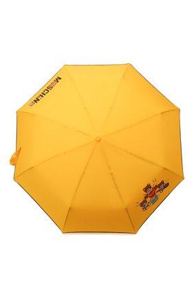 Женский складной зонт MOSCHINO желтого цвета, арт. 8031-0PENCL0SE | Фото 1