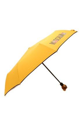 Женский складной зонт MOSCHINO желтого цвета, арт. 8031-0PENCL0SE | Фото 2