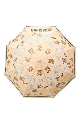 Женский складной зонт MOSCHINO бежевого цвета, арт. 8033-0PENCL0SE | Фото 1