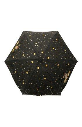 Женский складной зонт MOSCHINO черного цвета, арт. 8323-C0MPACT | Фото 1