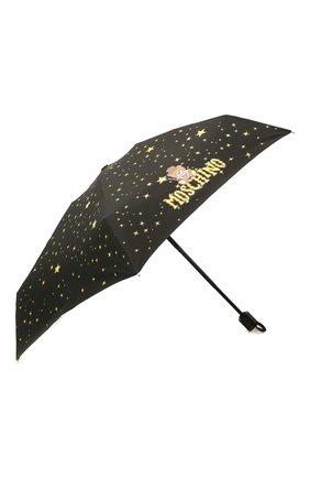 Женский складной зонт MOSCHINO черного цвета, арт. 8323-C0MPACT | Фото 2