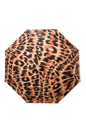 Женский складной зонт MOSCHINO коричневого цвета, арт. 8562-0PENCL0SE | Фото 1