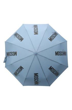 Женский складной зонт MOSCHINO голубого цвета, арт. 8730-0PENCL0SE | Фото 1