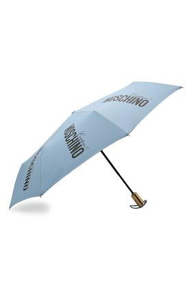 Женский складной зонт MOSCHINO голубого цвета, арт. 8730-0PENCL0SE | Фото 2