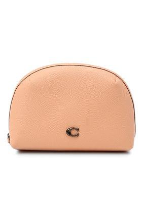 Женская кожаная косметичка COACH розового цвета, арт. C3489   Фото 1