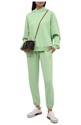 Женские хлопковые джоггеры PANGAIA зеленого цвета, арт. 21FPU01-132-FM002   Фото 2