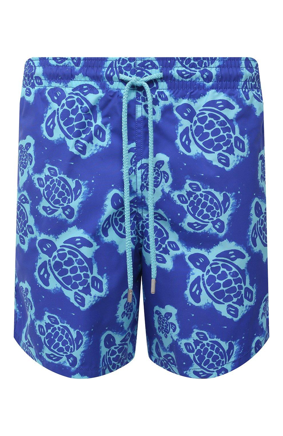 Мужские плавки-шорты VILEBREQUIN синего цвета, арт. MOOH1B03/314   Фото 1 (Материал внешний: Синтетический материал; Принт: С принтом; Мужское Кросс-КТ: плавки-шорты)