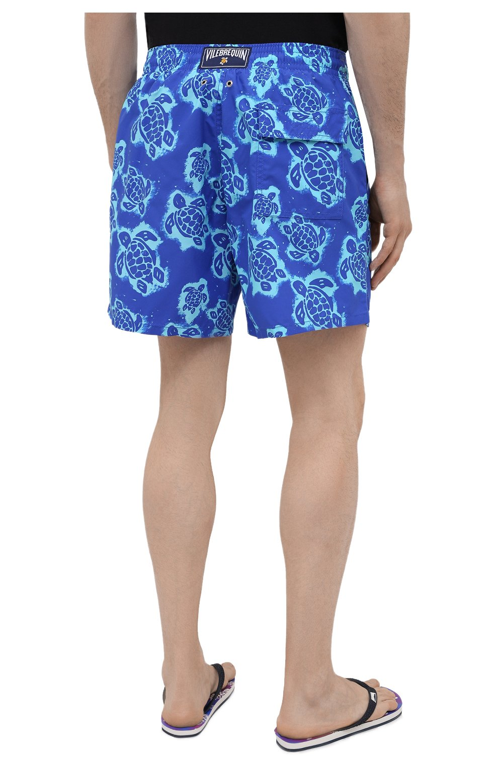 Мужские плавки-шорты VILEBREQUIN синего цвета, арт. MOOH1B03/314   Фото 4 (Материал внешний: Синтетический материал; Принт: С принтом; Мужское Кросс-КТ: плавки-шорты)