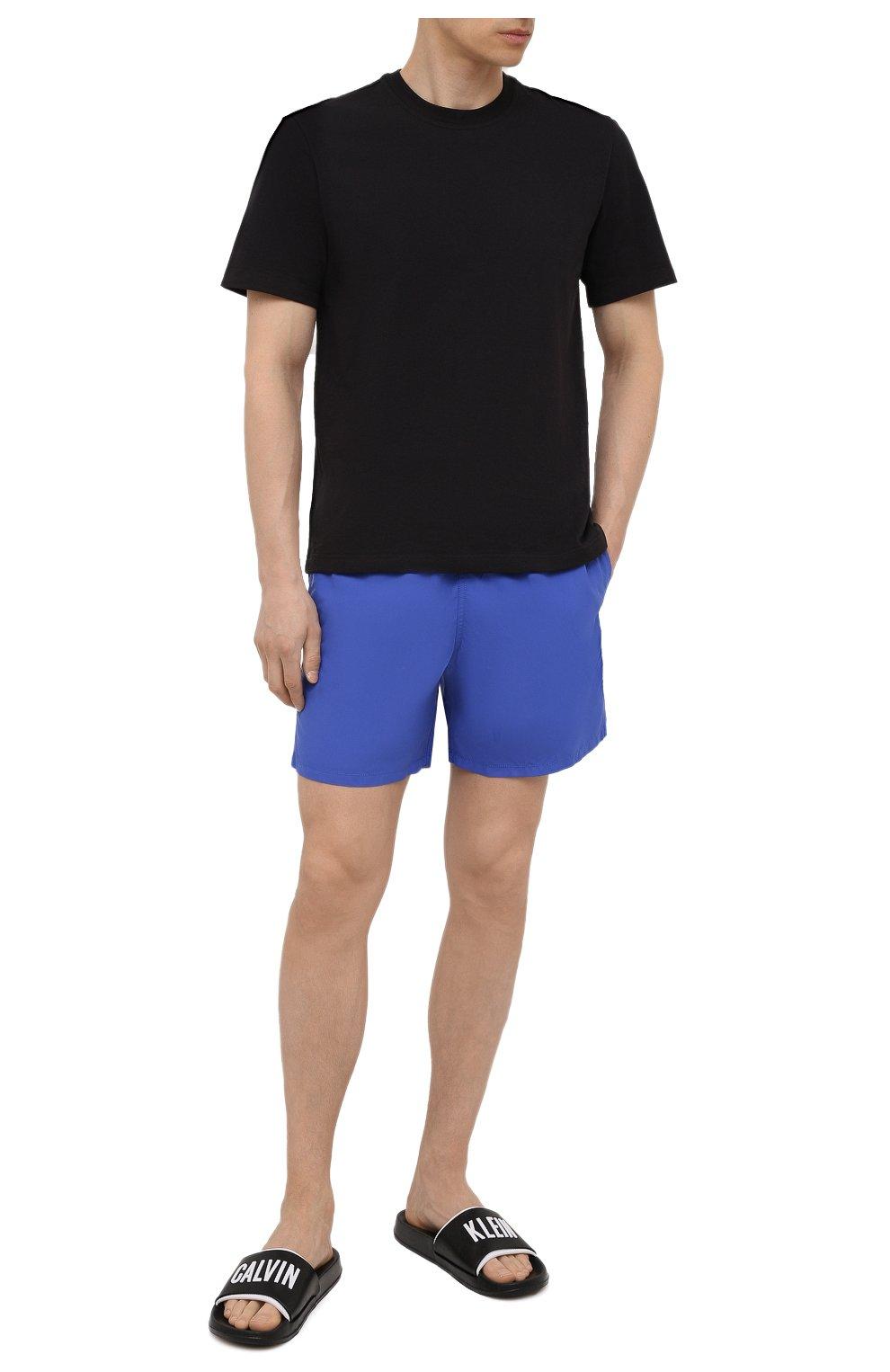 Мужские плавки-шорты VILEBREQUIN фиолетового цвета, арт. MOOC1A00/314 | Фото 2 (Принт: Без принта; Материал внешний: Синтетический материал)