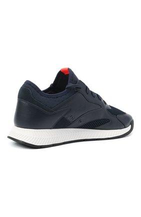 Мужские комбинированные кроссовки BOSS темно-синего цвета, арт. 50455539 | Фото 4