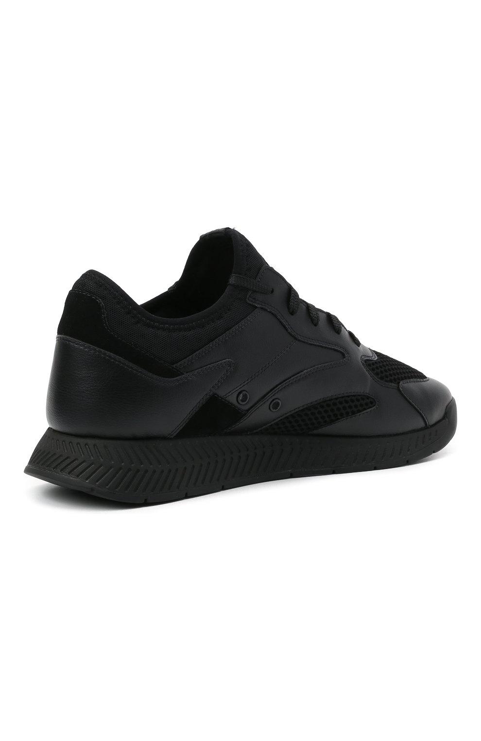 Мужские комбинированные кроссовки BOSS черного цвета, арт. 50455539   Фото 4