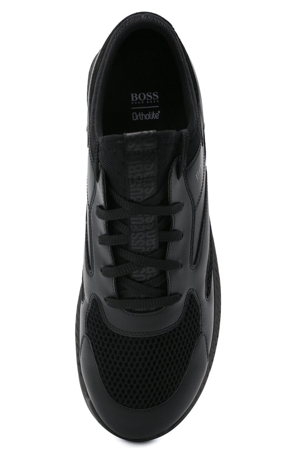 Мужские комбинированные кроссовки BOSS черного цвета, арт. 50455539   Фото 5
