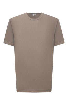 Мужская хлопковая футболка JAMES PERSE светло-коричневого цвета, арт. MLJ3311 | Фото 1