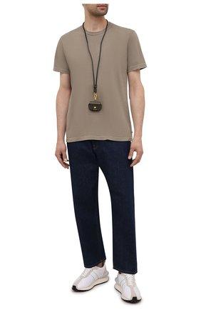 Мужская хлопковая футболка JAMES PERSE светло-коричневого цвета, арт. MLJ3311 | Фото 2