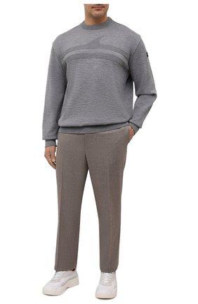 Мужской шерстяной свитер PAUL&SHARK серого цвета, арт. 11311333/FLV/3XL-6XL   Фото 2