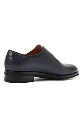 Мужские кожаные лоферы KITON темно-синего цвета, арт. USSMARIN00100/13-16 | Фото 4 (Мужское Кросс-КТ: Лоферы-обувь; Материал внутренний: Натуральная кожа; Стили: Классический)