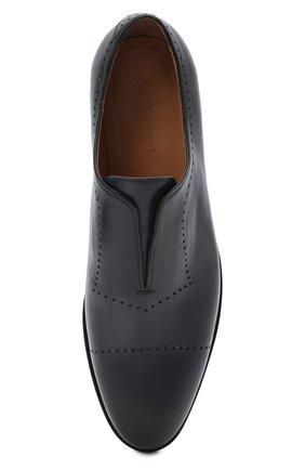 Мужские кожаные лоферы KITON темно-синего цвета, арт. USSMARIN00100/13-16 | Фото 5 (Мужское Кросс-КТ: Лоферы-обувь; Материал внутренний: Натуральная кожа; Стили: Классический)