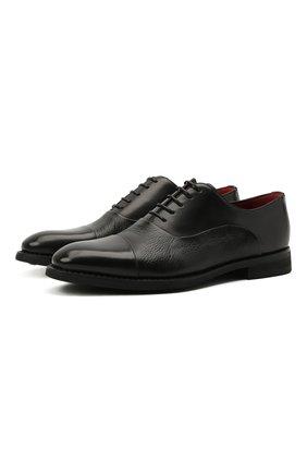 Мужские кожаные оксфорды BARRETT черного цвета, арт. 192U065.13/BETIS CREAM | Фото 1