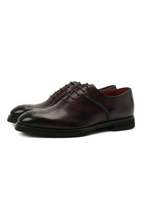 Мужские кожаные оксфорды BARRETT темно-коричневого цвета, арт. 212U013.6/BETIS CREAM | Фото 1